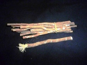 Chew Stick or teeth cleaning sticks.