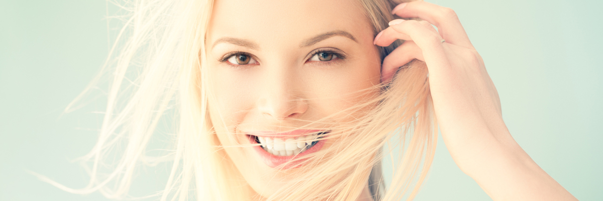 Beautiful Blonde Woman Smiling